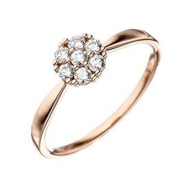 Zirkonia Ring Rotgold 333