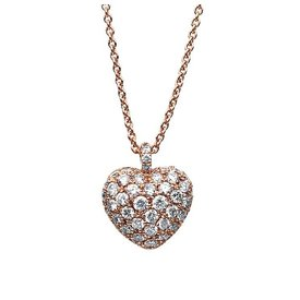 Herz Diamant Collier 0,70 ct Rotgold 585