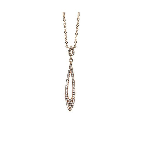 Diamant Collier 0,14 ct Rotgold 585