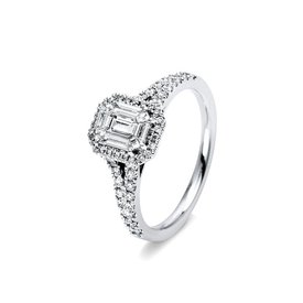 Baguette Diamant Ring 0,72 ct Weißgold 750