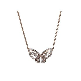 Diamant Collier Schmetterling 0,47 ct Rotgold 750
