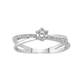 Solitaire Diamant Ring 0,36 ct Weißgold 585