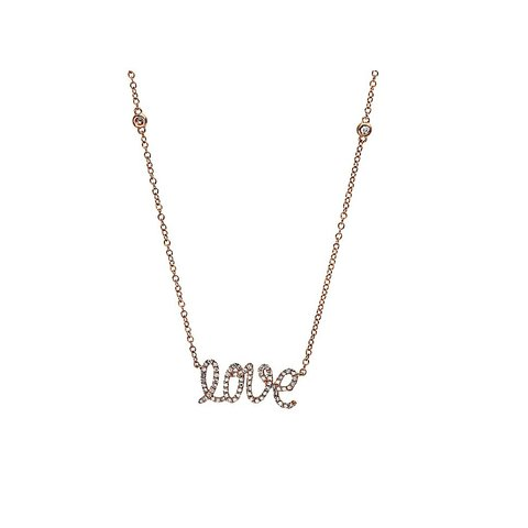 Diamant Collier LOVE Rotgold 750