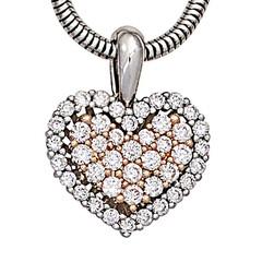 Artikel mit Schlagwort Diamant Herz Anhänger Weißgold Rotgold