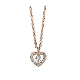Herz Diamant Collier Illusion 0,09 ct Rotgold 750