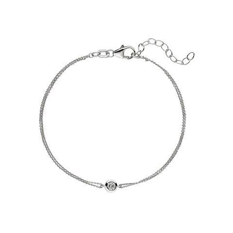Zirkonia Solitär Armband Silber 925