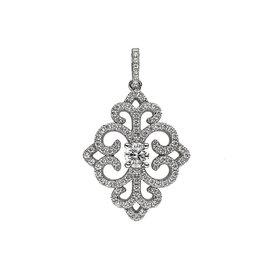 Zirkonia- Anhänger Ornament Sterling Silber 925