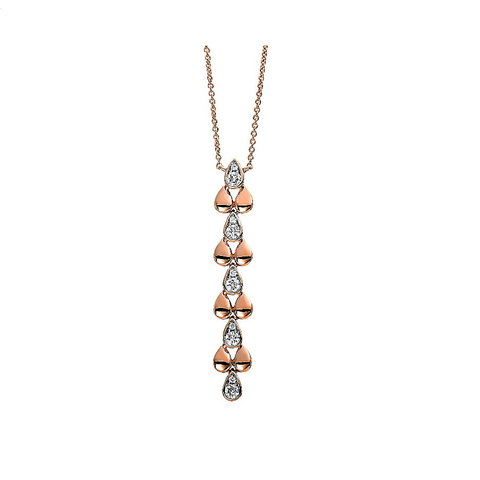 Diamant Collier 0,21 ct Rotgold 750
