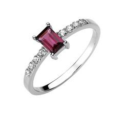 Artikel mit Schlagwort Rhodolith Zirkonia Ring Silber