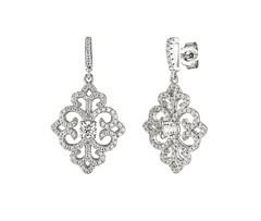 Artikel mit Schlagwort Zirkonia Ornament Ohrhänger Silber