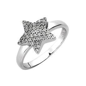 Zirkonia Ring Stern Sterling Silber 925