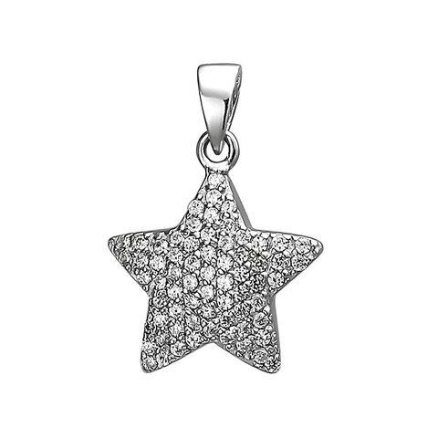 Zirkonia-Anhänger Stern Silber 925