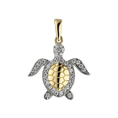 Anhänger Schildkröte Gelbgold 333