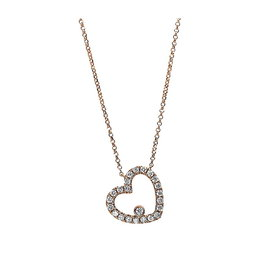 Diamant Herz Collier 0,28 ct Rotgold 750