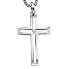 Artikel mit Schlagwort Diamant Kreuz Anhänger Weißgold