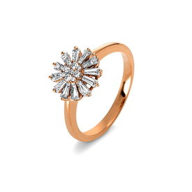 Diamantring 0,57 ct Rotgold 750