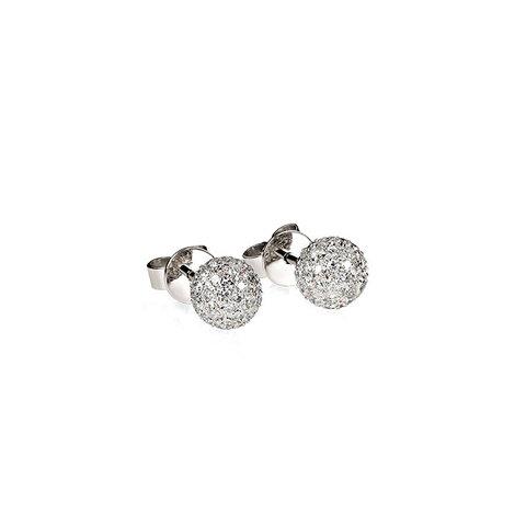 Diamant Pavé Kugel Ohrstecker 0,70 ct Weißgold 750