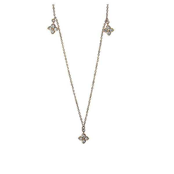 Diamant Collier 0,25 ct, 750er Rotgold