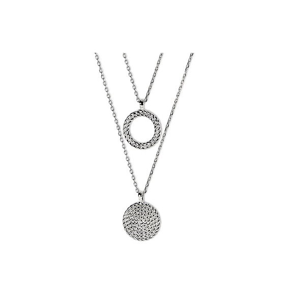2-reihiges Collier aus Sterling Silber 925