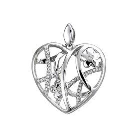 Herz-Anhänger mit Zirkonia Sterling Silber 925
