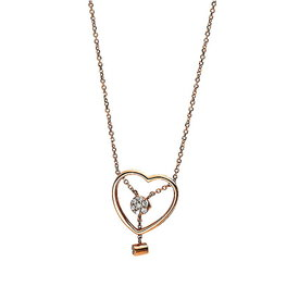 Herz Diamant Collier Rotgold 750