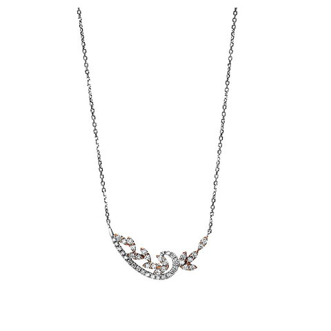 Diamant Collier 0,26 ct Weißgold/Rotgold 750