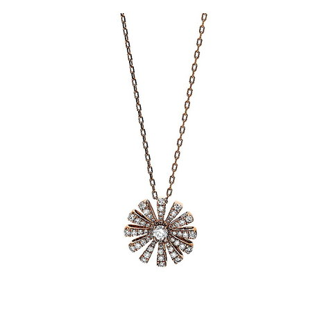 Diamant Collier 0,41 ct Rotgold 750