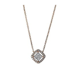 Diamant Collier 0,44 ct Rotgold 750