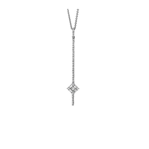 Diamant Collier 0,40 ct Weißgold 750