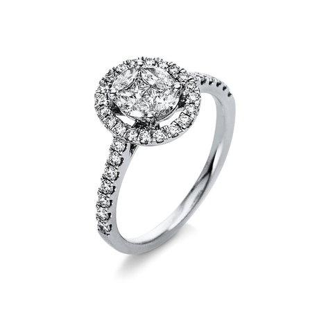 Diamantring 0,73 ct Weißgold 750