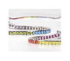 Artikel mit Schlagwort Zirkonia Armband Rainbow Silber