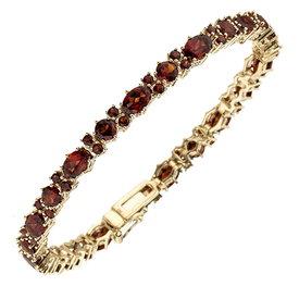 Granat Armband Gelbgold 333