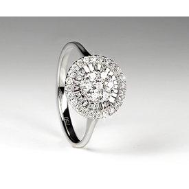Diamantring 0,47 ct Weißgold 750