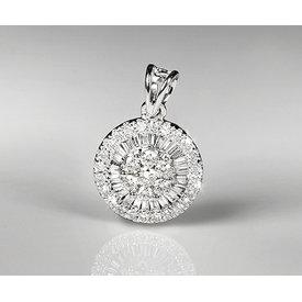 Diamant Anhänger 0,42 ct Weißgold 750