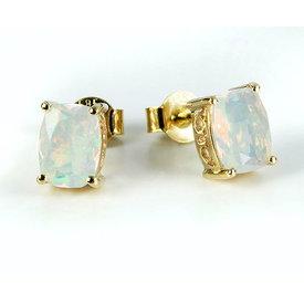 Opal Ohrstecker Gelbgold 585