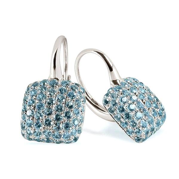 Ohrringe mit Topasen swiss blue aus 750er Weißgold