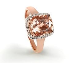 Artikel mit Schlagwort Morganit Diamant Ring