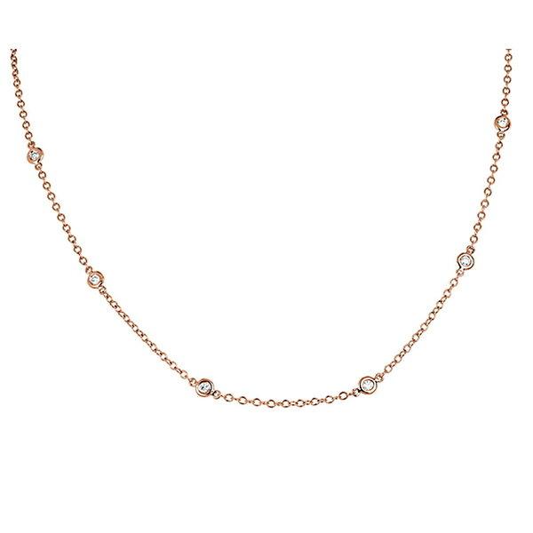 Diamant Collier 0,40 ct aus 750er Rotgold