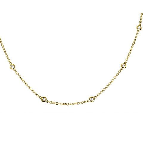 Diamant Collier 0,40 ct Gelbgold 750