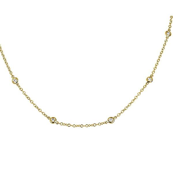 Diamant Collier 0,40 ct aus 750er Gelbgold