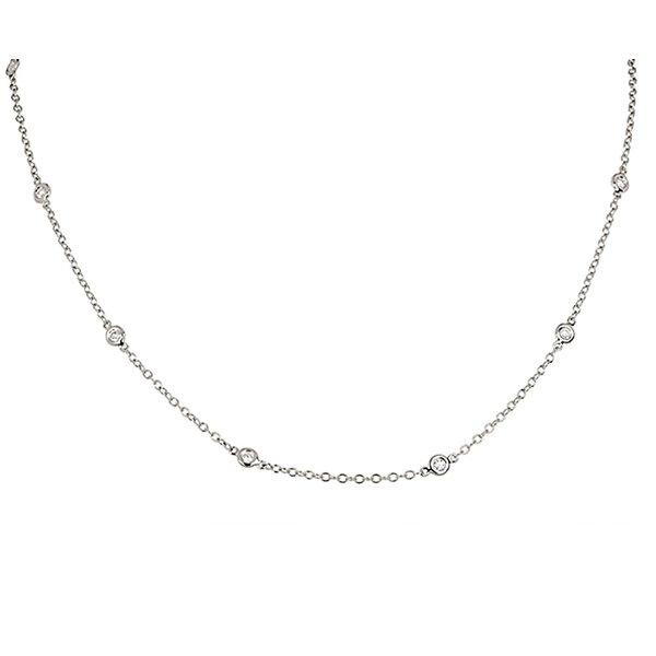 Diamant Collier 0,40 ct aus 750er Weißgold