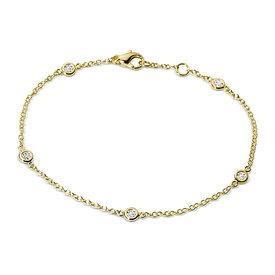Diamant Armband 0,20 ct Gelbgold 750