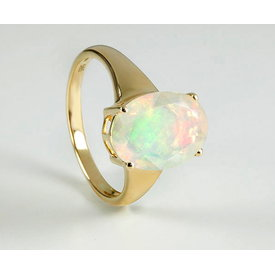 Opal Ring Gelbgold 585