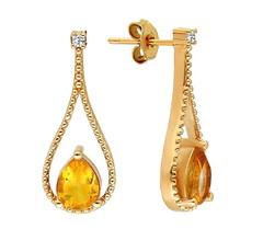 Artikel mit Schlagwort Citrin Diamant Ohrhänger Gelbgold