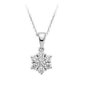 Diamant Collier 0,43 ct Weißgold 585