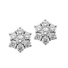 Diamant Ohrstecker 0,85 ct Weißgold 585