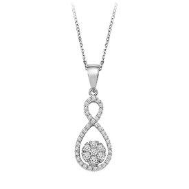 Diamant Collier Infinity 0,24 ct Weißgold 585