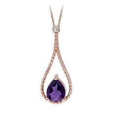 Artikel mit Schlagwort Amethyst Diamant Collier Rotgold