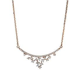 Diamant Collier 0,25 ct Rotgold 750