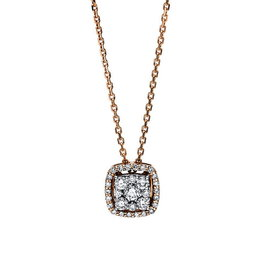 Diamant Collier 0,32 ct Rotgold 750